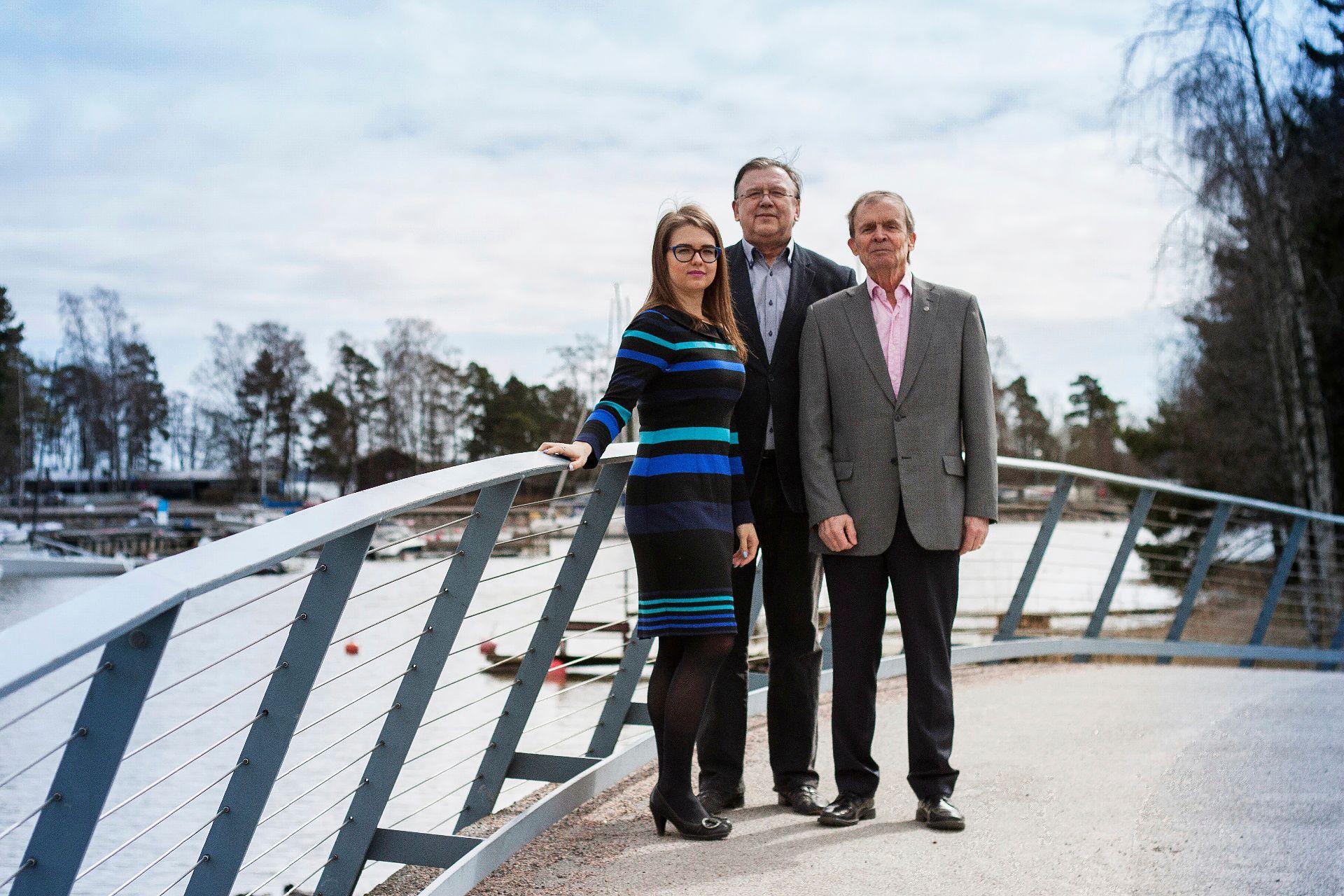 Jekaterina ja Andrei Samoilova sekä Pentti Flink perustivat 2015 Suomeen Eremitaasin ystävien seuran. Gaskelbergeistä ei juuri valokuvia löydy. © Kuvakaappaus