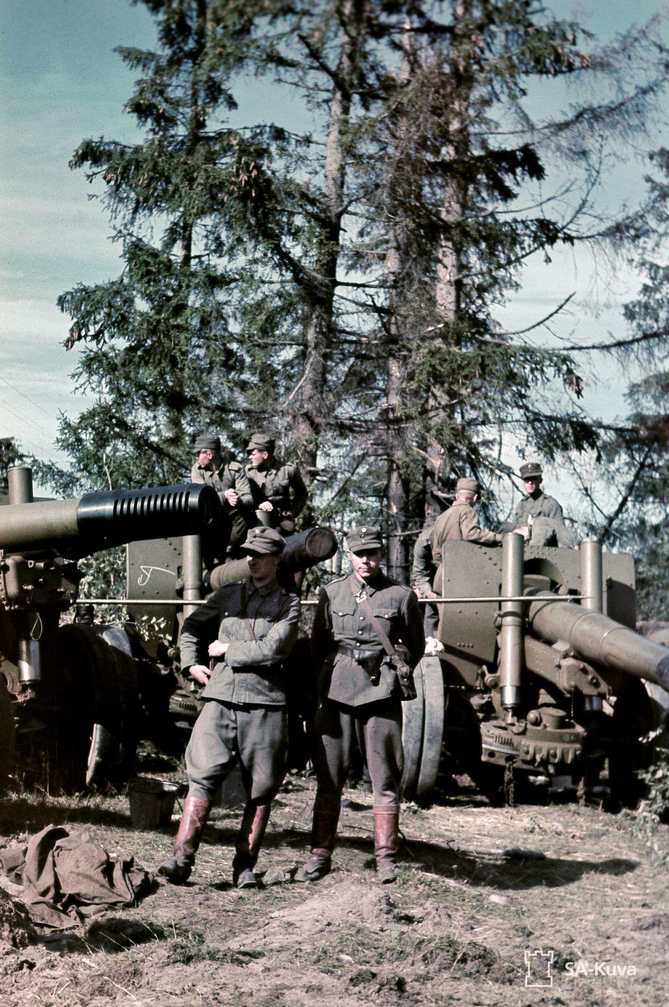 Tykkejä joutui Porlammen motista suomalaisten sotasaaliiksi yli kolmesataa. © SA-Kuva