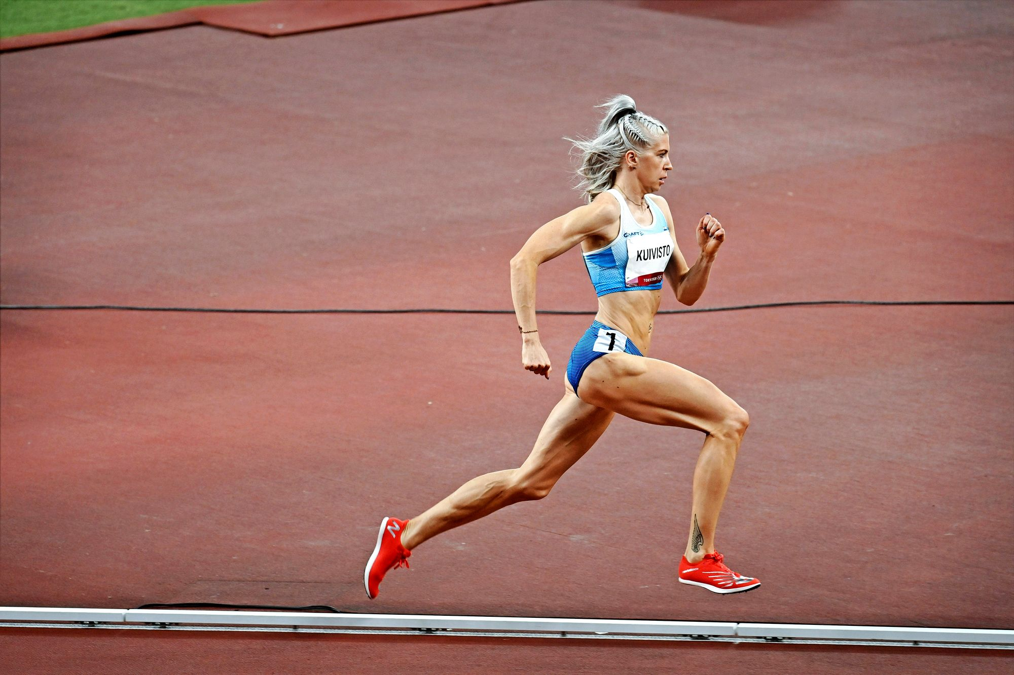 Sara jahtasi 800 metrillä kahden minuutin alitusta pitkään, kunnes Tokiossa tärähti. Enää hän ei aio sanoa tavoitteitaan ääneen. © Lehtikuva / ANTTI AIMO-KOIVISTO