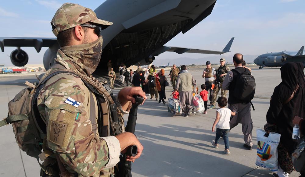 Afganistan Suojausjoukko Kabulin lentokentällä