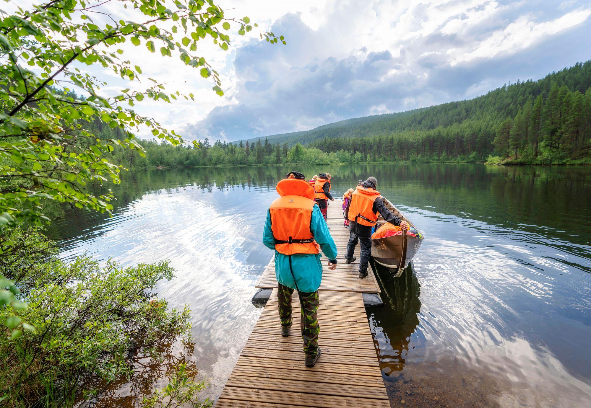 Jokikyydin aikana kannattaa varautua useampaan kävelytaukoon. © Juha Kauppinen