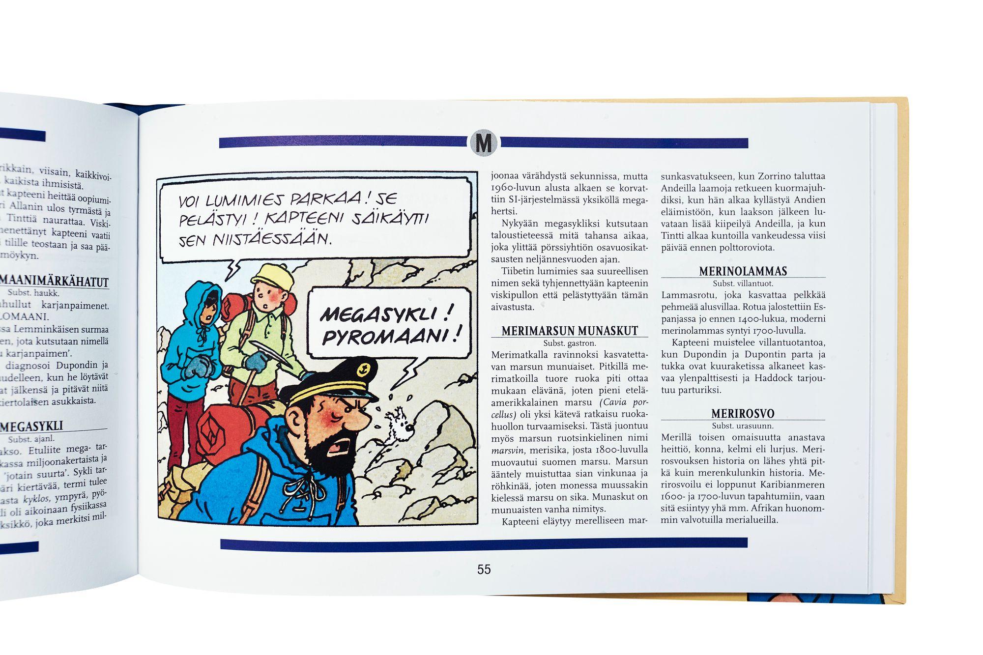 Heikuran kirjassa avataan kapteeni Haddockin sadattelujen ja parjausten taustoja. © Sara Pihlaja