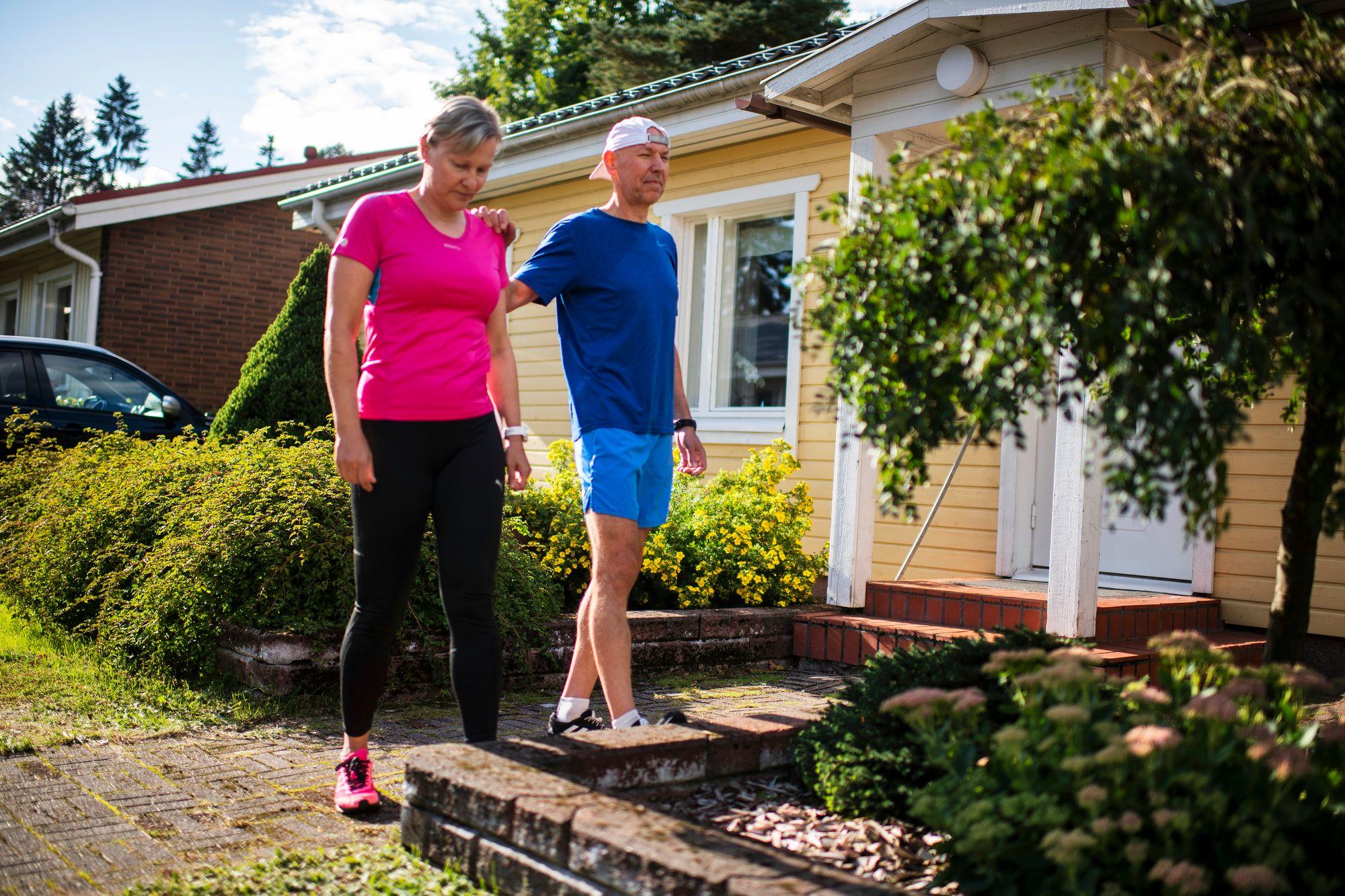 Eija ja Marco Färmille liikunta on tärkeä yhteinen harrastus. © Vesa Koivunen