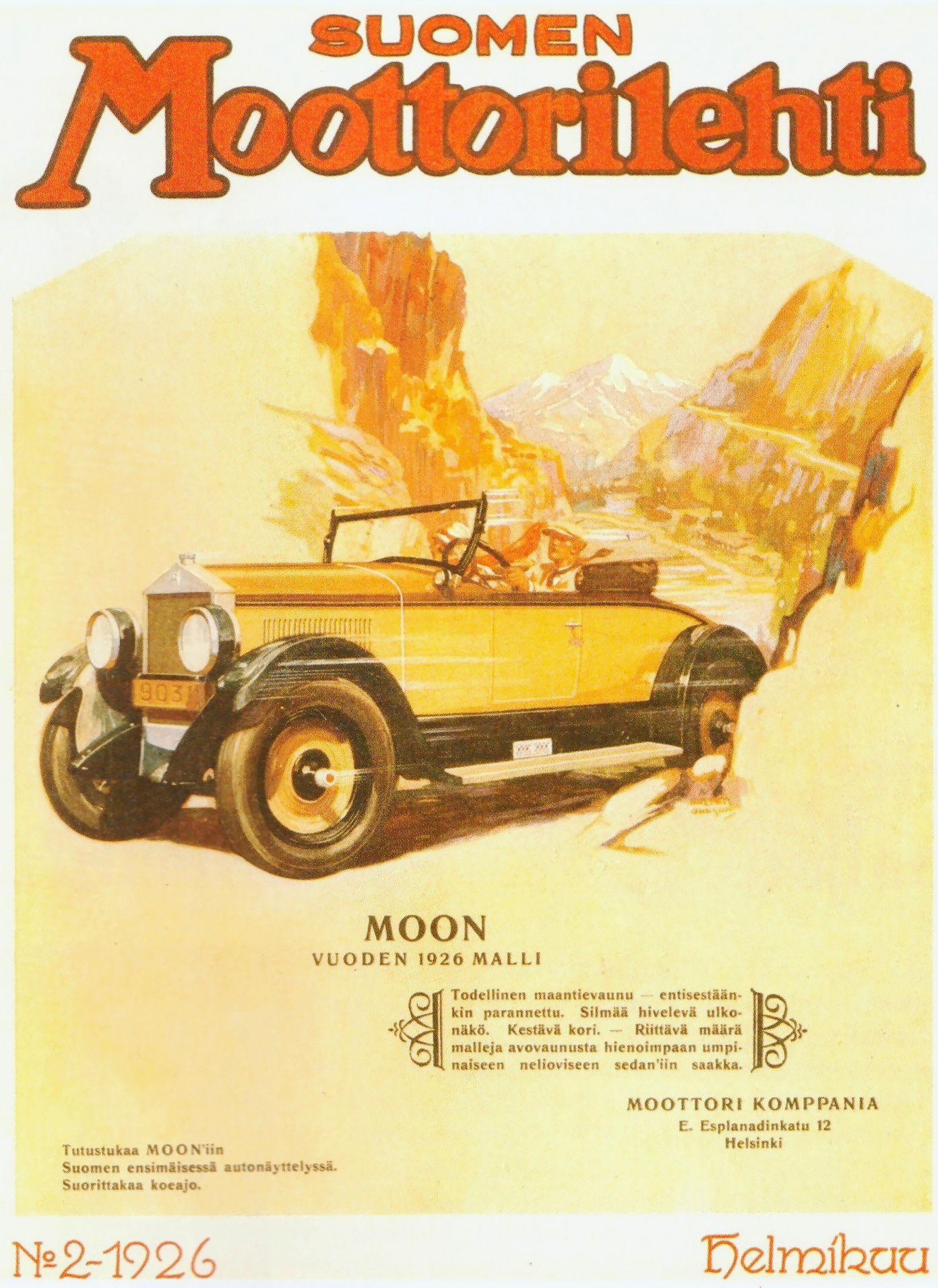 Suomen Moottorilehti alkoi jakaa autotietoa vuonna 1924.